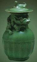 堆塑蟠龙盖瓶