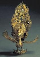 鎏金镶珠银金翅鸟